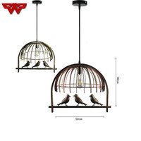 Retro industrial creative iron small birdcage chandeliers Scandinavian post modern American food hangers free shipping