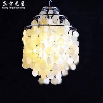 sea shell pendant lamp natural shell light  wind bell hanging lighting living room dining room aisle lamp