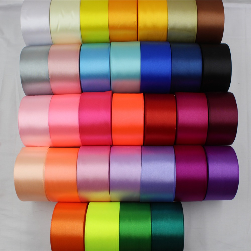 A-166950 , 50MM 32 color can choose 25 Yards Silk Satin Ribbon , Wedding decorative ribbons, gift wrap, DIY handmade materials