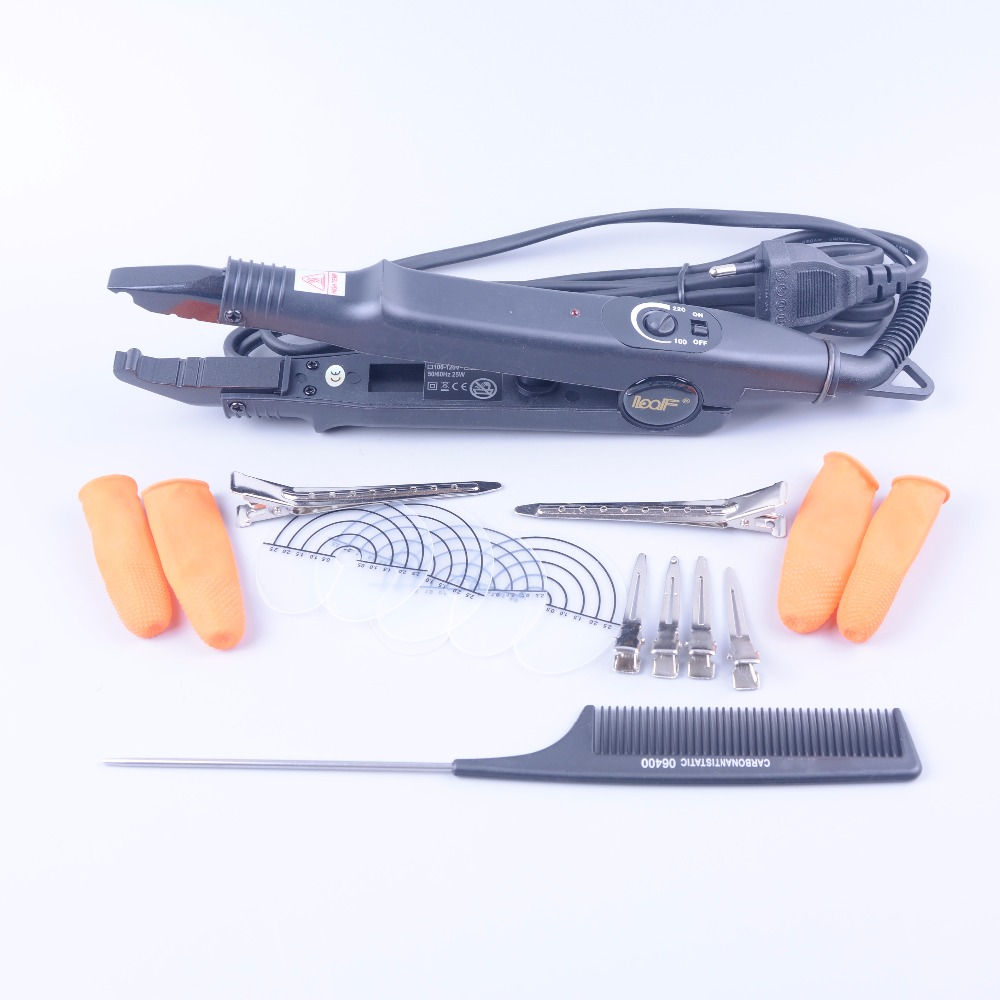 free shipping Loof Brand New Fusion Hair Extension Iron Keratin Bonding Tool Adjustable Temperature Fusion Heat