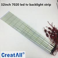 10pcs Lot 32 Inch 7020 LEDedge Strip Aluminum Plate Strip Backlight Lamps Led TV Backlight Strip