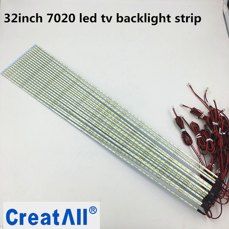 10pcs/lot 32 Inch 7020 LED Edge Strip Aluminum Plate Strip Backlight Lamps Led TV Backlight Strip 355mm