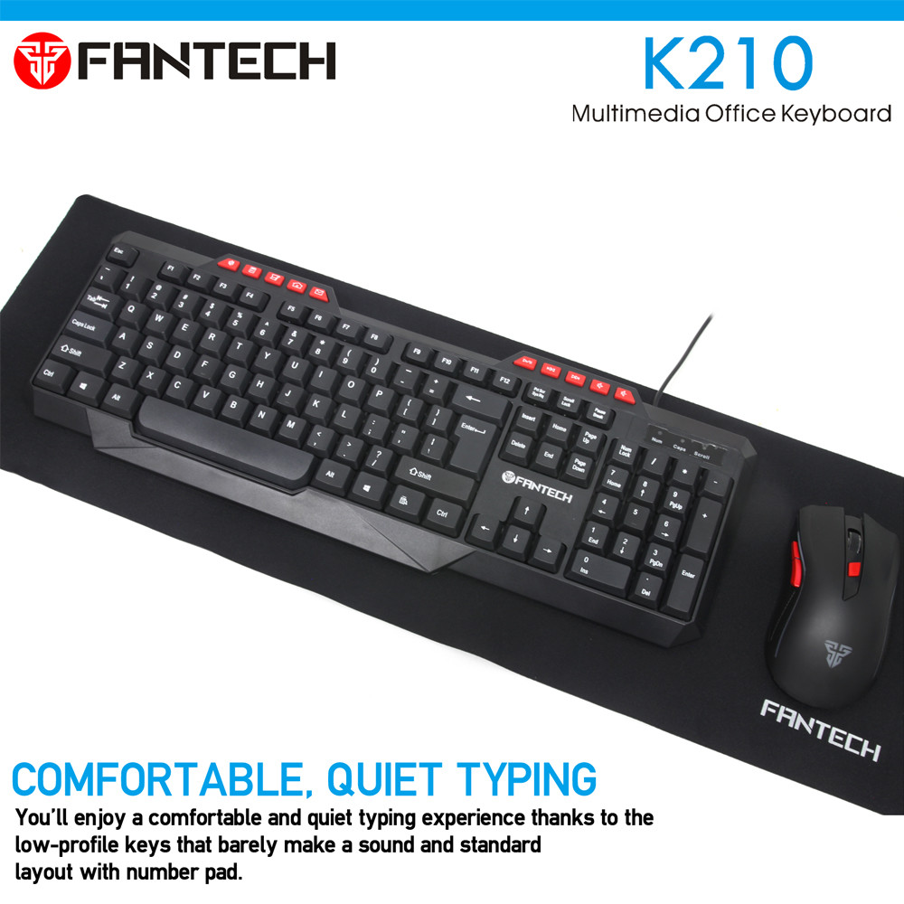 FANTECH K210 Multimedia Office Keyboad 7