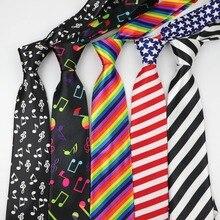 Мужские модные галстуки helloveen фестиваль новогодний галстук Мягкий дизайнерский персонаж галстук Музыка Примечание галстуки в полоску