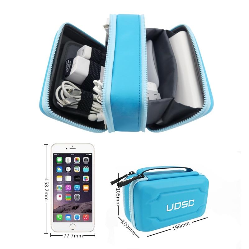 Boîtier de Kit Mobile sac de rangement haute capacité dispositifs de Gadget numérique câble USB ligne de données Insert de voyage étui de voyage Portable
