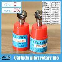 1 Piece Tungsten Carbide Alloy Rotary File Milling Cutter Drill Bit For Carving Sculpture Type D