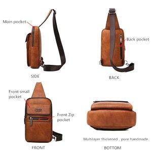 Image 3 - 지프 BULUO 브랜드 패션 슬링 가방 고품질 남자 가방 분할 가죽 대형 어깨 Crossbody 가방 젊은 남자에 대 한