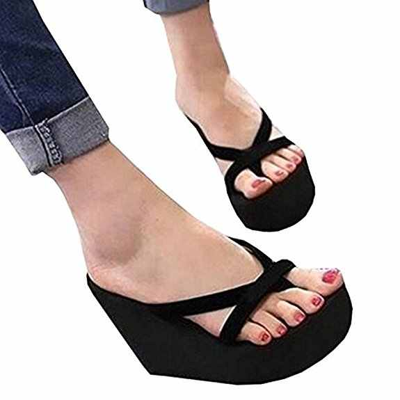 9e0646760 Fashion Women Sandals Casual Summer Handmade Platform Shoes Wedges Flip  Flops Outdoor Slippers Flat Slides EVA