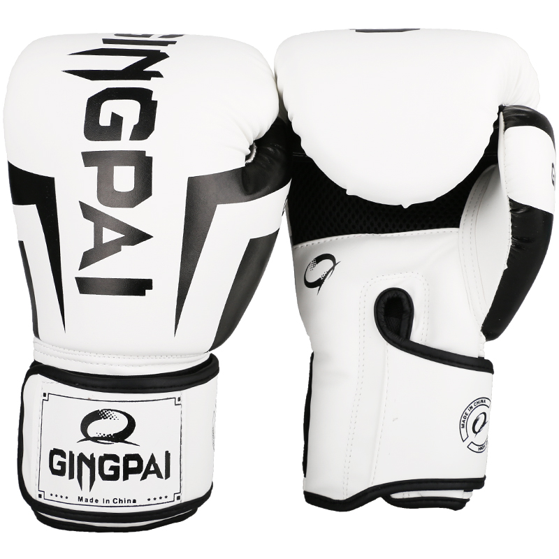 Free Shipping New Arrivals White MMA Gloves Muay Thai Gym Punching Bag Gloves Half Mitt Train Sparring Kick Boxing Gloves martial arts