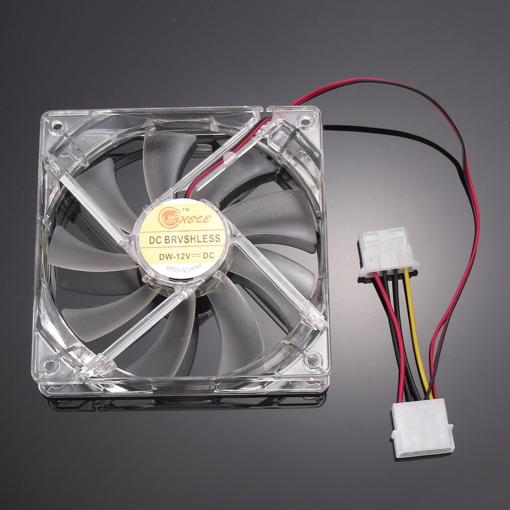 PC Computer Fan Quad 4 LED Light 120mm PC Computer Case Cooling Fan Mod Quiet Molex Connector Easy Installed Fan 12V new 3u ultra short computer case 380mm large panel big power supply ultra short 3u computer case server computer case