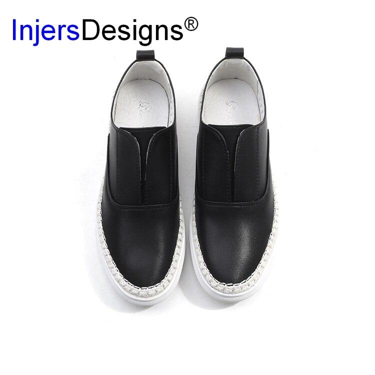 Sólidos Vestido Casual Transpirable Zapatos Mocasines Pisos sliver Mujeres De on Gold White White Madre black Slip Moda white Cuero Mujer Cómodo 67zSXg