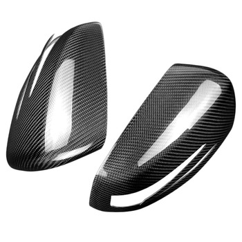Véritable couverture de miroir de Fiber de carbone pour Mercedes Benz W204 A W176 E W212 E W207 Gla X156 Cla W117 Cls W218 C classe ajouter sur le Style