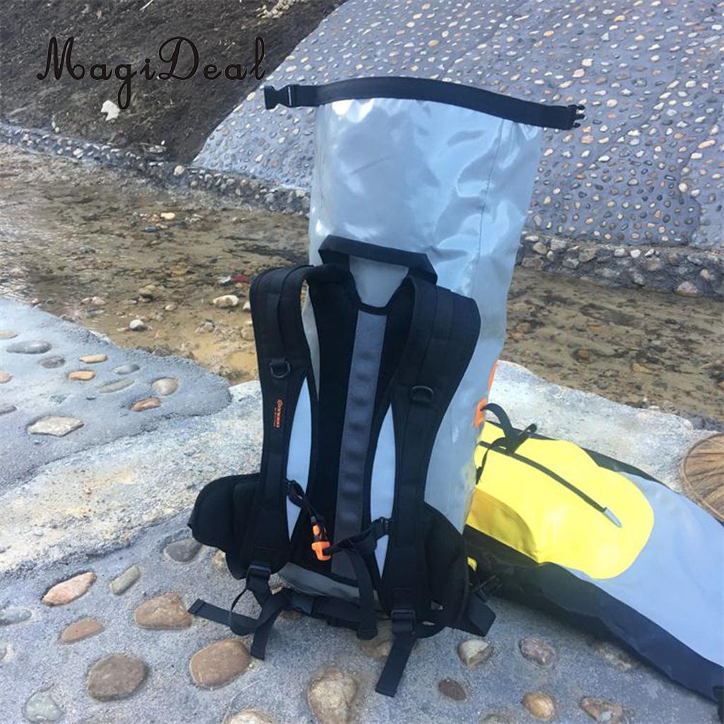 MagiDeal Waterproof Dry Backpack Hiking Rucksack Kayak Boat Floating Pack - Yellow ...