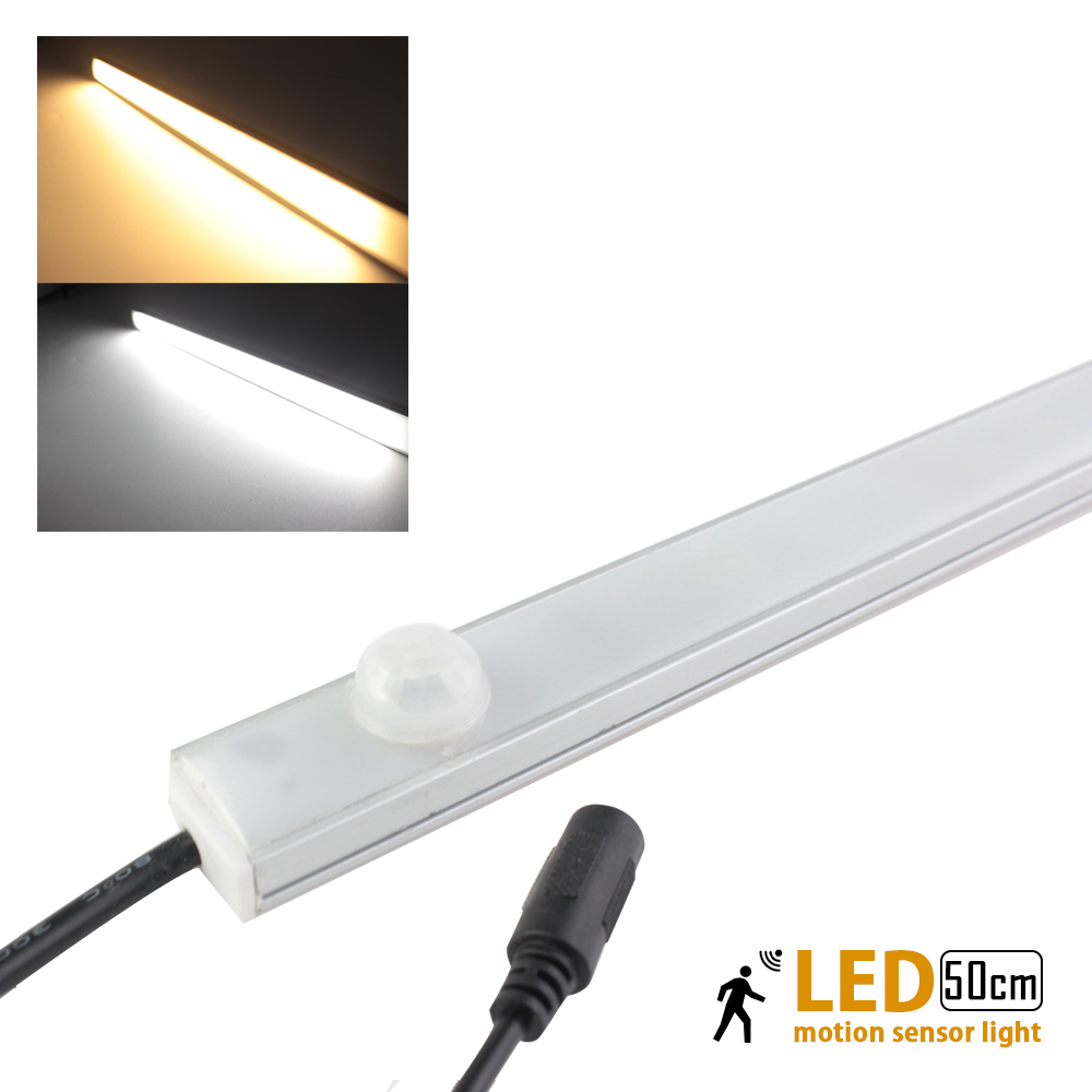 Modern 12v Kitchen Led Under Cabinet Lights Tubes 50cm: Led Motion Sensor Light PIR Body Detector 50cm 12V10W LED