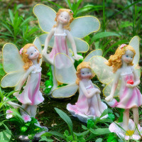 set Baseball flower fairy craftwork Gardening potted for birthday gifts Tabletop counter statues Home decoration dies