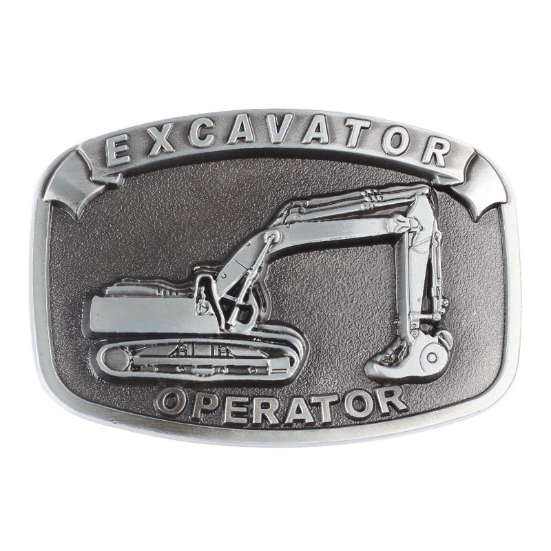 Excavator Alloy Belt Buckle Suitable For 3.8cm Width Man's Belt