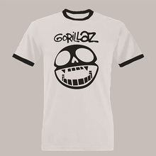 GORILLAZ T Shirt Rock The House Funnny t shirts camisetas 2017 Summer Fashion 100% Cotton Brand Clothing Man T-Shirt Plus Size