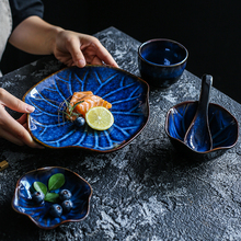 NIMITIME Japanese Style Kiln Ceramic Rice Bowl Dishes Spoon Dinner Plate Hotel Restaurant