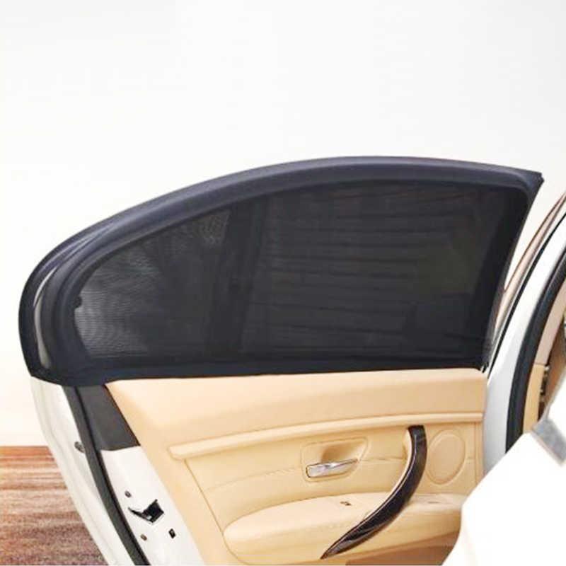 2 قطعة سيارة نافذة غطاء ظلة الستار الجبهة/وراء ويندوز الأشعة فوق البنفسجية حماية درع الشمس شبكة تظليل الشمسية البعوض الغبار حماية