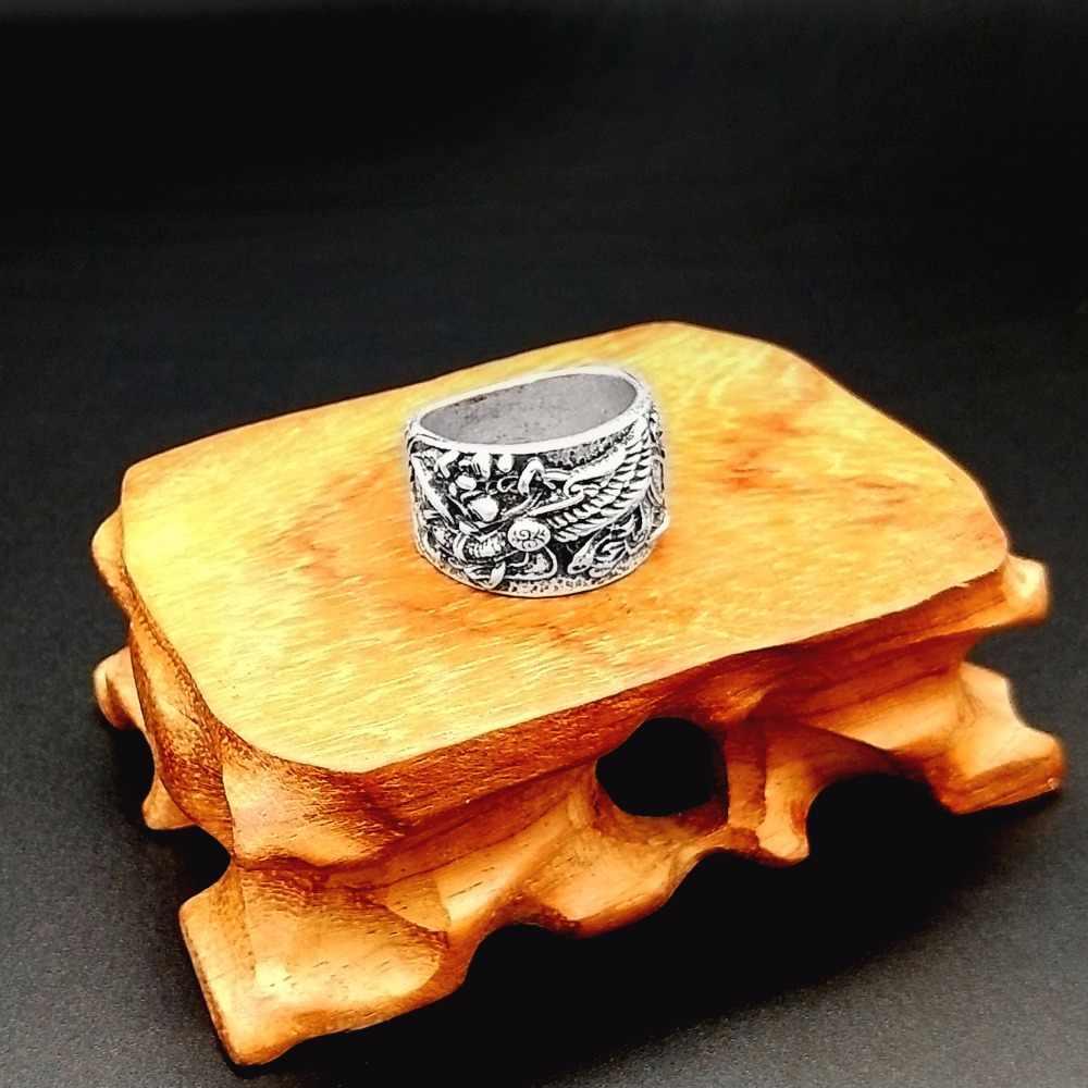 Anel nórdico viking liga de zinco griffin s distintivo masculino anel pagão jóias