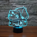 New Bulbasaur Cartoon Pokemon 3D LED Night Lights Colorful Acrylic Table Lamp For Party Baby Toy Christmas Gift Bedroom lamps