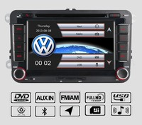 7 INDASH Car DVD player with GPS(optional),USB/SD,AUX,BT,audio Radio stereo,car multimedia headunit for universal VW Volkswagen