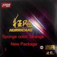 DHS Hurricane3 provincia Pips-In ping pong goma con esponja naranja nuevo paquete