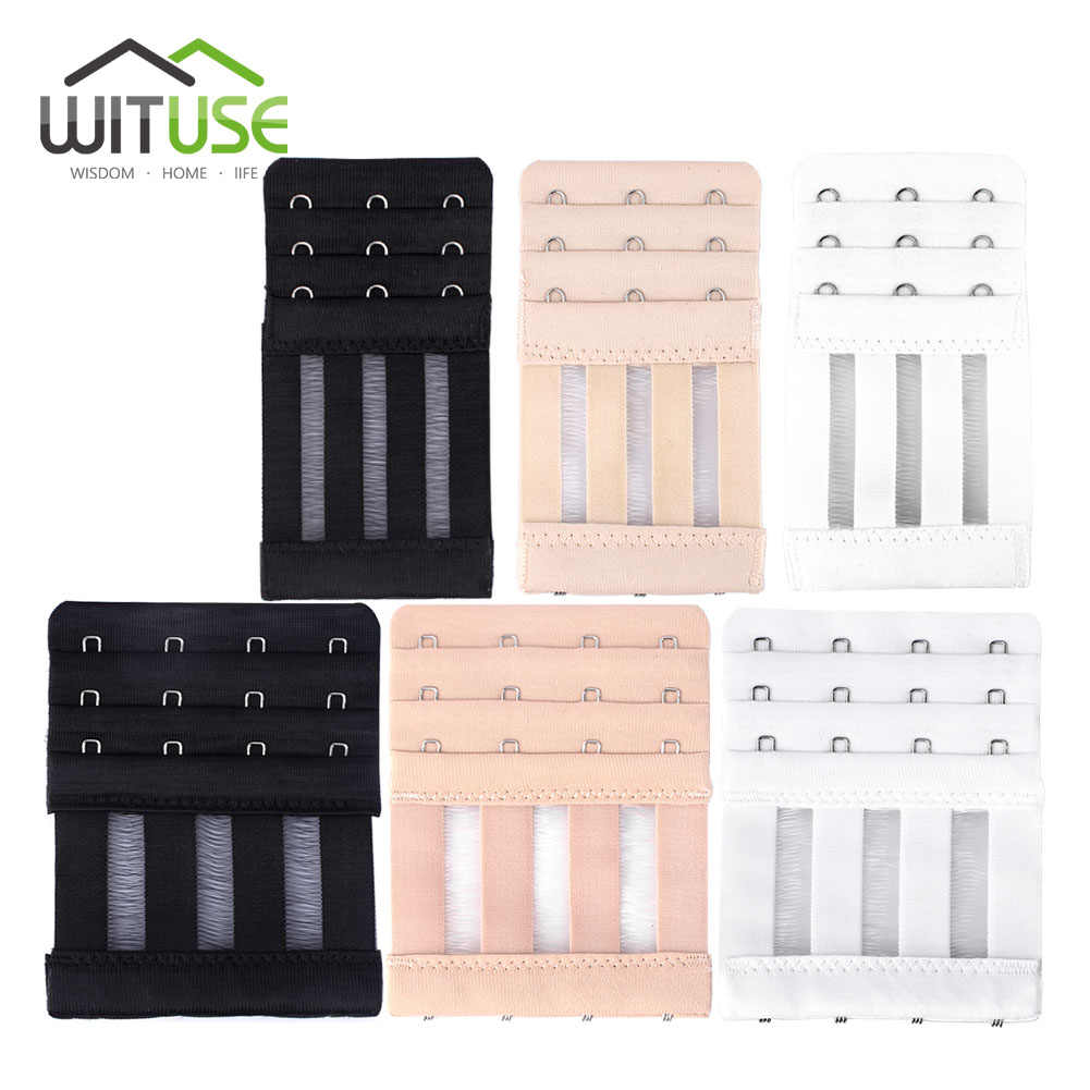 WITUSE Cheap! Bra Extenders Strap Extension 3 Hooks 4 Hooks 3 Colors Belt Clasp Comfort Underwear Buckle Elastic Clips