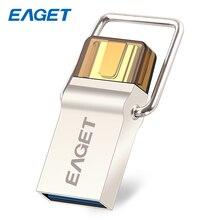 Original EAGET Type-C Pendrive USB Flash Drive 16GB Memory Portable Mini USB 3.0 Flah Disk 32GB Smart Phone USB Stick 64GB CU10