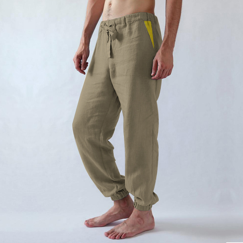 Men's Trousers Casual Pants Comfortable Sports Strap Long Low-Waist