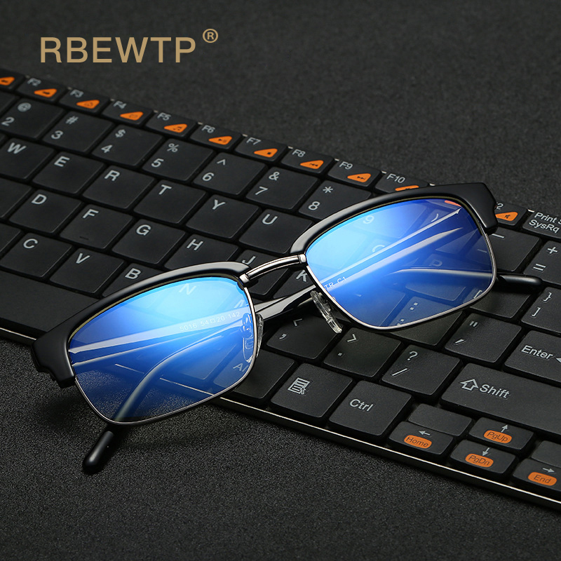 RBEWTP Unisex TR90 Frame Blue Light Blocking Glasses Reading Glasses Radiation-resistant Clear Computer Gaming Glasses Eyewear