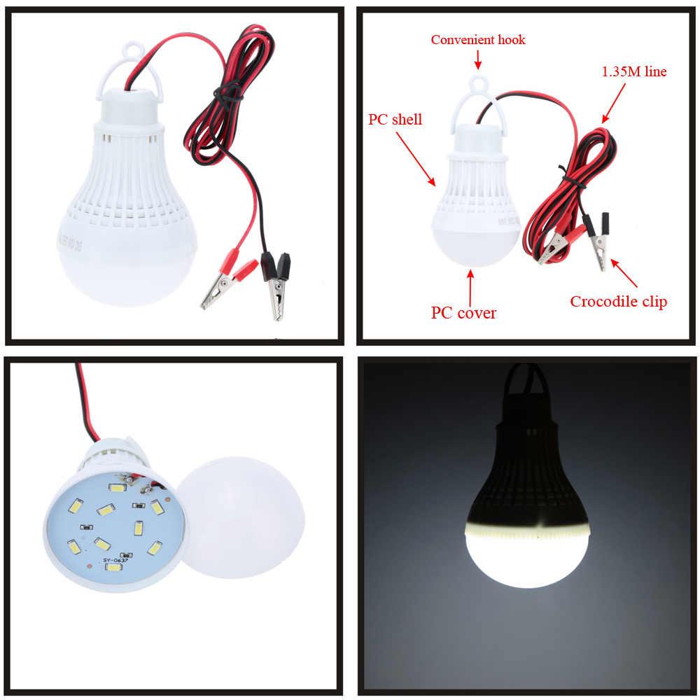 Luminaria ampoule à filament portable 12 V, led bombillas 12V smd 5730 puce lampada luz lampe 3W 5W 9W 12W