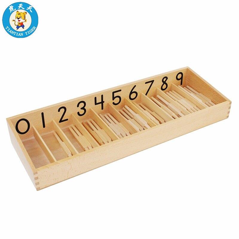 Montessori bébé jouets pour enfants éducation précoce mathématiques apprentissage préscolaire aides pédagogiques boîte de broche avec 45 bâtons de broche