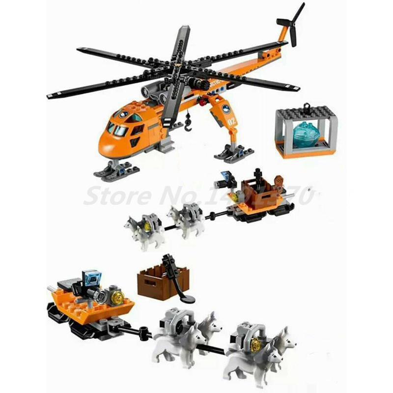 Bela 10439 273pcs City Arctic Helicrane Helicopter Husky Figure Building Block Model Sets Toys for Children Birthday Gifts куртка iriedaily city arctic parka black 700 m