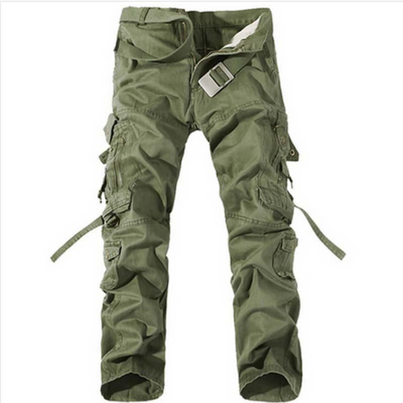 green army cargo pants - Pi Pants