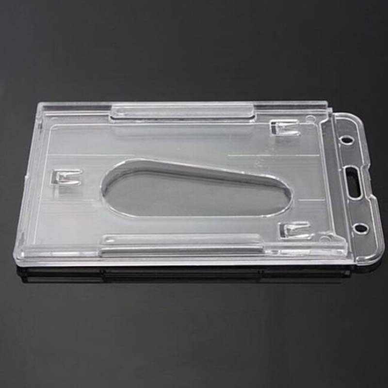 100x60 мм прозрачного пластика с накатанной головкой Выдвижной Карманный Бизнес кредитной карты держатель Чехол подставка для канцелярских принадлежностей аксессуары
