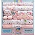 18 unids ajustado 100% algodón recién nacido ropa de bebé ropa de bebé de invierno recién nacido ropa de bebé, niña, niño mono bebe ropa TZ34