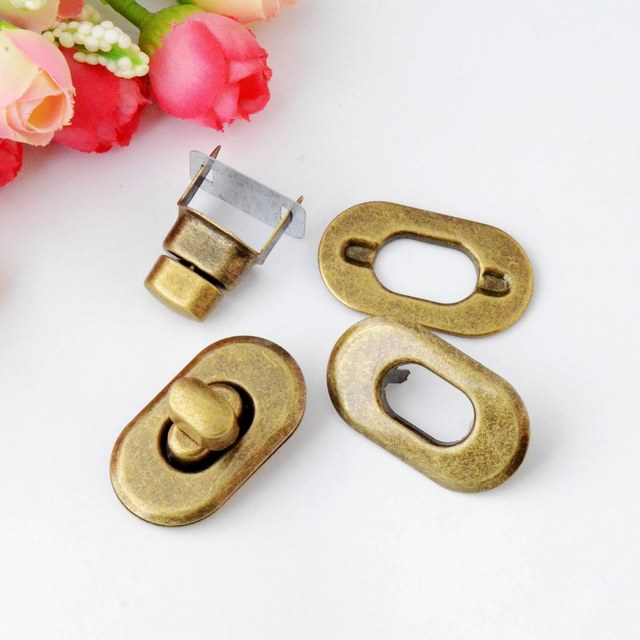 Free Shipping-2 Sets Bronze Tone Trunk Lock Handbag Bag Accessories Purse Snap Clasps/ Closure Locks 37x21mm F0827