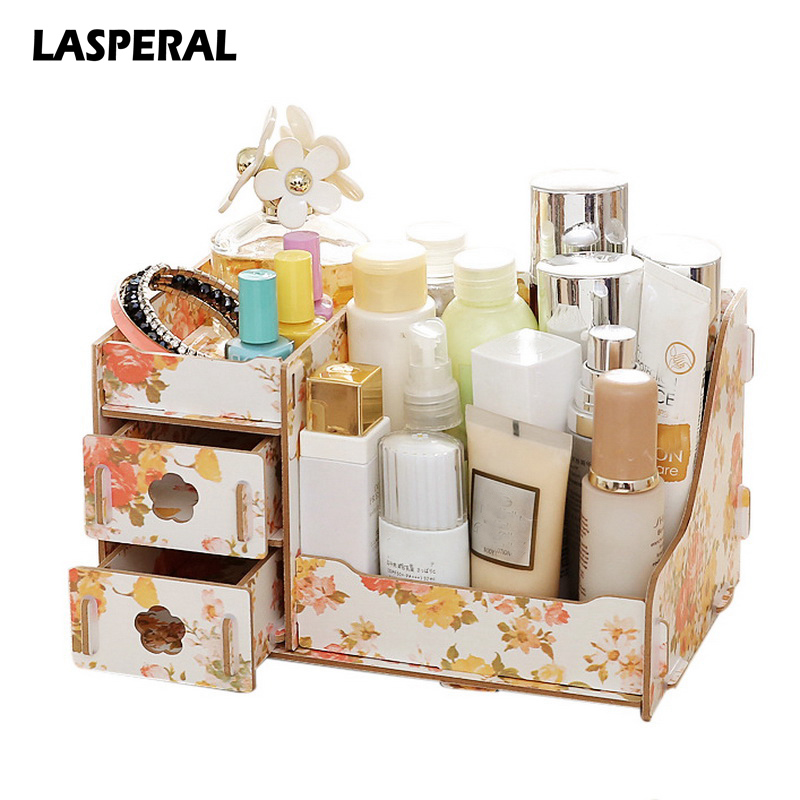 wooden storage box makeup organizer case handmade jewelry. Black Bedroom Furniture Sets. Home Design Ideas