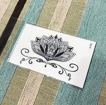 Waterproof Temporary Tattoo Henna Fake Flash Tattoo Stickers Taty Tatto Tatuagem Tattoos Tatuajes A Lotus Blossom For Men Girls