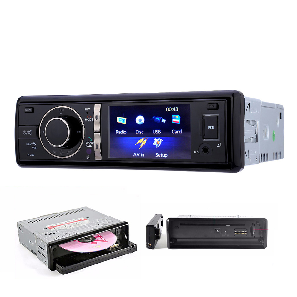 ФОТО Car Dvd Player Bluetooth Fm USB Charger Panel Remove 1 Din Auto Car Mp3 Mp4 CD Player Audio Stereo With Controller