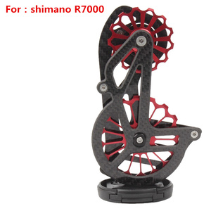 Image 3 - Bicycle carbon fiber ceramic rear derailleur 17T pulley Guide Wheel for Shimano 6800 R7000 R8000 R9100 R9000 bicycle accessories
