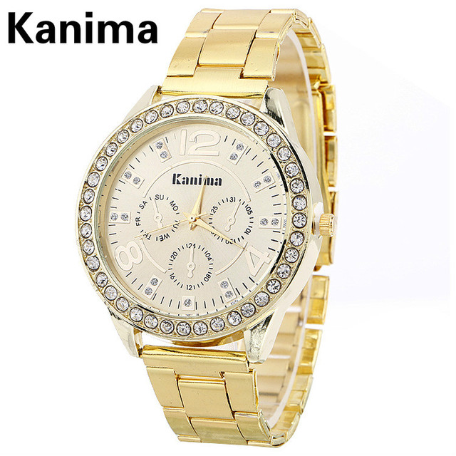 031c44605c7 Venda quente de Luxo de Genebra Marca de KANIMA relógio De Cristal das  senhoras das mulheres