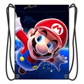 2016 New Stylish Super Mario Drawstring Backpack Boy School Bags Cartoon Fans Shoes Bag With 2 String