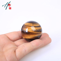Bestsale Newest 41mm Modern Natural Quartz Crystal Tiger Eye Healing Ball Fengshui Home Decoration Accessories Gift