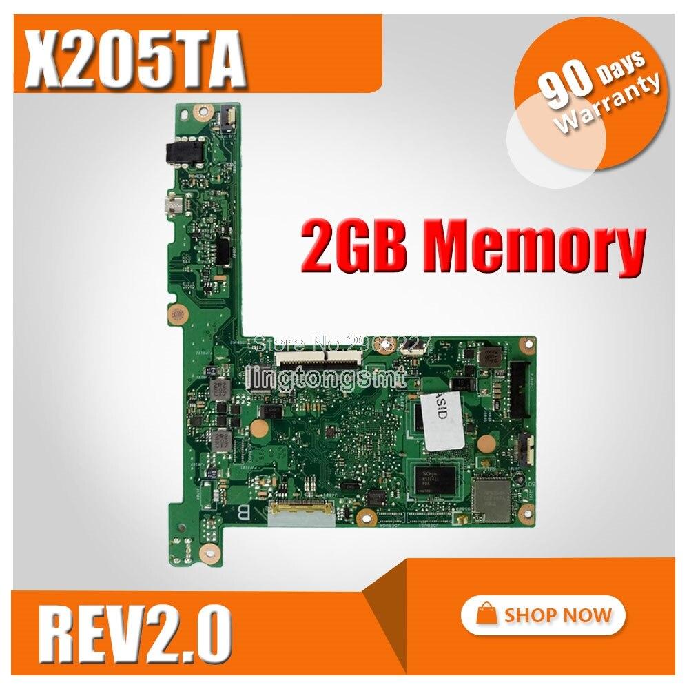 SAMXINNO for ASUS Laptop motherboard X205TA X205TAW X205T Mainboard X205TA REV2.0 with Z3537F processor 2GB 100% Tested цена