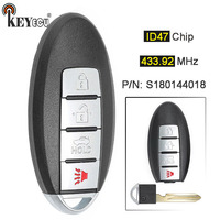 KEYECU 433.92MHz ID47 P/N: S180144018 Replacement Smart Remote Car Key Fob 3+1 4 Button for Nissan Altima Maxima 2013 2014 2015