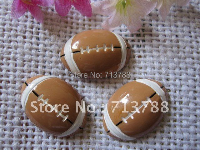 DIY Football Resin Cabochons Flat-Back-Resin Craft-Accessories Fashion 15pcs/Lot