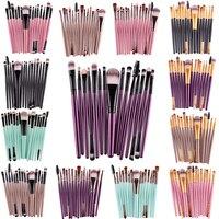 MAANGE Pro 15 Unids/Kit de Pinceles de Maquillaje Set Sombra de Ojos Cejas Pestañas Delineador de Labios Fundación Poder Cosméticos Maquillaje cepillo de Herramientas de Belleza