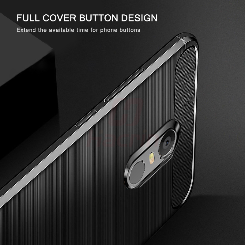 For Xiaomi Redmi 5 Plus Case Carbon Xiaomi Redmi 5 Case Brushed TPU Silicone Protective Back Cover Shockproof for xiami Redmi5